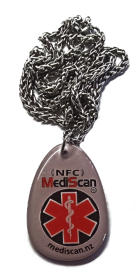 mediscan.nz alert pendant with chain